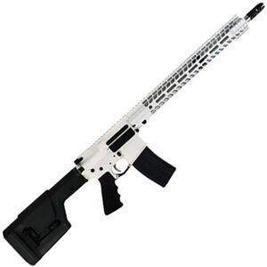 "Stag Arms STAG-15 Valkyrie Semi Auto Rifle .224 Valkyrie 18"" Stainless Steel Heavy Barrel 25 Rounds Stag-15 M-LOK SL Freefloat Handguard Magpul Fixed Rifle Stock Cerakote White with Black Accents"