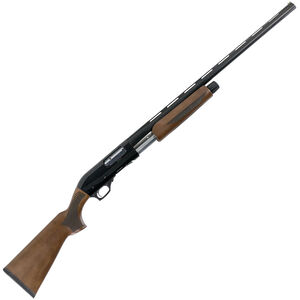 "Hatfield PAS 12 Gauge Pump Action Shotgun 28"" Barrel 3"" Chamber 5 Rounds Walnut Stock Black Finish"