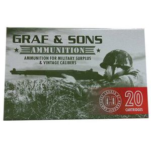 Hornady/Graf&Sons 7.5x55 Swiss 165 Grain BTSP 20 Rnd Box