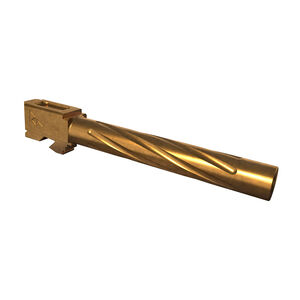 Rival Arms Barrel for GLOCK 34 Gen 3/4 Models 9mm Luger Fluted 416R Stainless Steel PVD Coating Bronze Finish