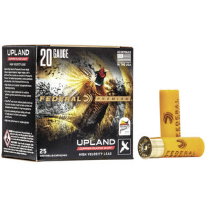 """Federal Wing-Shok Pheasants Forever High Velocity 20 Gauge Ammunition 2-3/4"""" #4 Copper Plated Lead Shot 1 Ounce 1350 fps"""