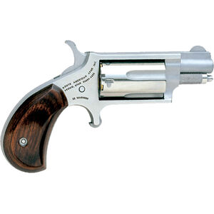 "North American Arms .22 LR/WMR Mini-Revolver 1.13"" Barrel 5 Rounds Rosewood Grips Stainless Frame and Finish"