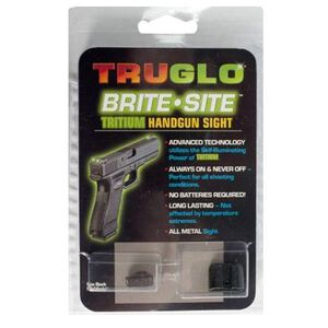 TRUGLO Brite Site Tritium Night Sights For GLOCK 42 .380 ACP Green Front/Rear CNC Machined Steel Black TG231G1A