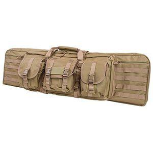 """Vism Double Carbine Soft Rifle Case 42"""" PVC Tan Finish CVDC2946T-42"""
