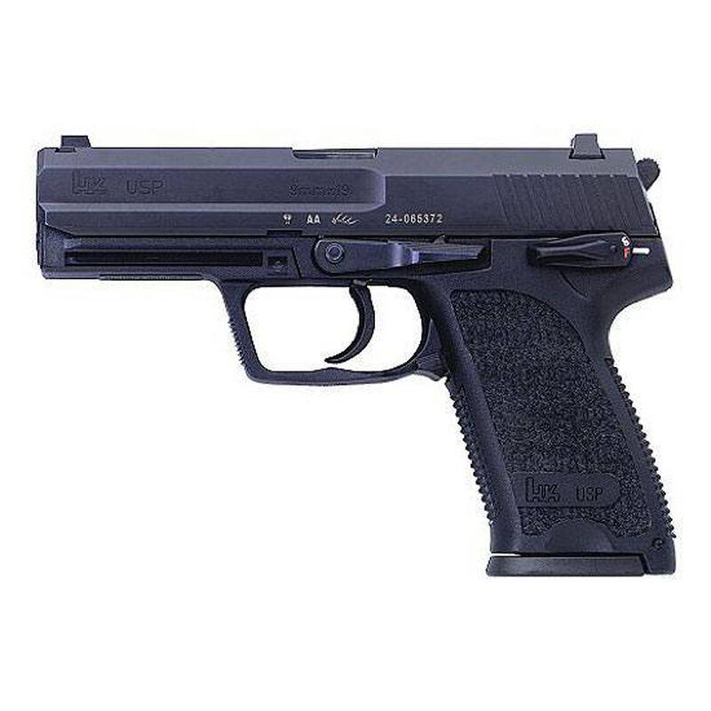 """H&K USP V1 9mm Semi-Auto Pistol, 4.25"""" Barrel, 15 Rounds, Polymer, Black"""