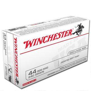 Winchester USA .44 Magnum Ammunition 500 Rounds, JSP, 240 Grain
