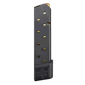 Chip McCormick Combat POWER MAG 1911 Full Size Magazine .45 ACP 10 Rounds Stainless Steel Black M-PM-45FS10-B
