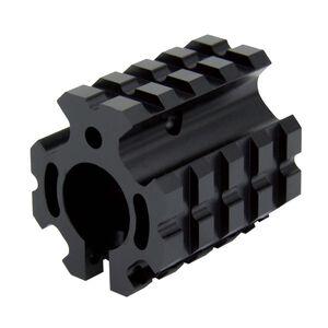 TacFire AR .750 Clamp On Quad Rail Gas Block Aluminum Black MAR005-L