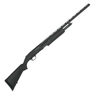 "Mossberg 500 Field Pump 20 Gauge All Purpose Field Shotgun 26"" Barrel 6 Rounds Twin Bead Sights Synthetic Stock Matte Black Finish"