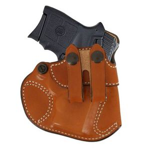 DeSantis Cozy Partner Inside the Pants Holster For GLOCK 26, 27, 33, Walther PPS Right Hand Leather Tan