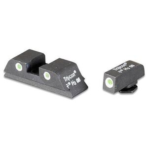 AmeriGlo GLOCK 9mm/.40/.357 Classic 3 Dot Tritium Night Sights Green with White Outline Front and Rear GL113