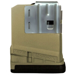 Lancer L7 Advanced Warfighter Magazine .308 Win/7.62 NATO 5 Rounds Polymer Flat Dark Earth L705FDE