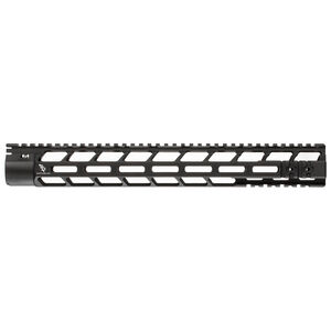 "Bootleg PicLok AR-15 15"" One Piece Free Float Hand Guard Full Length Mil-Spec Picatinny Top Rail 6061 Aluminum Hard Coat Anodized Matte Black Finish"