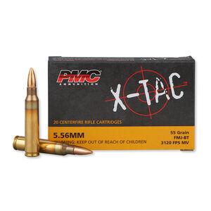 PMC X-TAC 5.56 NATO Ammunition 20 Rounds FMJBT 55 Grains 5.56X