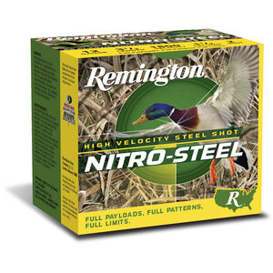 "Remington Nitro-Steel 12 Ga 3"" T Steel 1.375oz 250 Rounds"