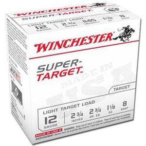 "Winchester Super-Target Light 12 Gauge Shot Shells 250 Rounds 2 3/4"" #8 Lead 1.125 Ounce TRGT128"