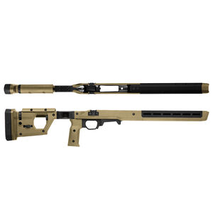 Magpul Pro Fixed Stock for Remington 700 Short Action Calibers M-LOK Modular Attachment Slots Full Billet Aluminum Skeleton Ambidextrous Flat Dark Earth Finish