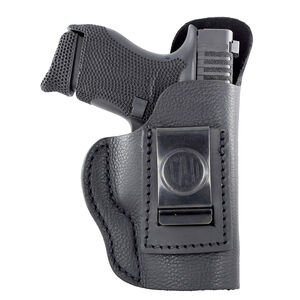 1791 Gunleather Smooth SCH-3 Multi-Fit IWB Concealment Holster for Sub-Compact Slim Semi Auto Pistols Right Hand Draw Leather Black