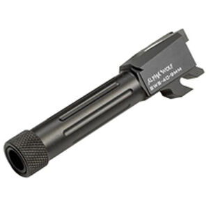 Lone Wolf S&W M&P Shield 40 AlphaWolf Conversion Barrel 9mm Luger Threaded 1/2x28 TPI Stainless Black AW-SWS409TH