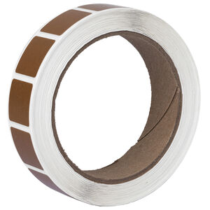 """Action Target Roll of 1000 7/8"""" Square Target Paster Brown"""