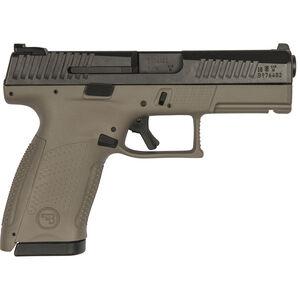 "CZ P-10 C 9mm Luger Semi Auto Pistol 4"" Barrel 15 Rounds Fiber Reinforced FDE Polymer Frame Black Finish"