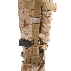BLACKHAWK! Nylon Omega VI Ultra Universal Modular Light Ambidextrous Tactical Drop Leg Holster Coyote Tan 40MLH1CT