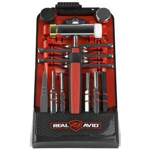 Real Avid Roll Pin Punch Kit with Accu-Punch Hammer Roll Pin Punches Set and Pin Alignment Tool AVHPS-RP