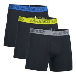 Under Armour Charged Cotton Men's Boxer Briefs Small Steel/Anthracite/Steel 3 Pack
