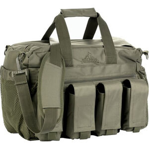Red Rock Gear Deluxe Range Bag 30 Liter Capacity Fold Out Mat 600D Polyester OD Green