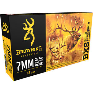 Browning 7mm Remington Magnum Ammunition 200 Rounds BXS 139 Grains