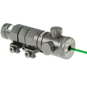 XY Green Laser, Hand Adjustable, Firefield, Tail Cap and Remote Pressure Switch, Barrel and Rail Mount.