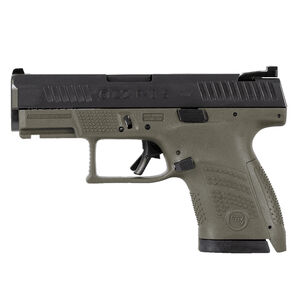 "CZ P-10 S Sub-Compact 9mm Luger Semi Auto Pistol 3.5"" Barrel 12 Rounds Night Sight Fiber Reinforced Polymer Frame OD Green/Black Finish"