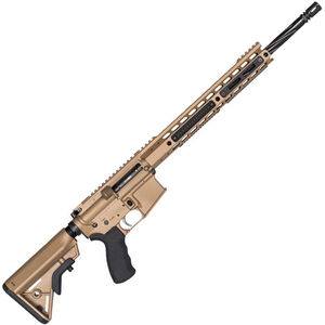 "Alexander Arms .17 HMR Tactical Semi Auto Rifle 18"" Fluted Barrel 10 Rounds Geissele Trigger Manticore Handguard, FDE"