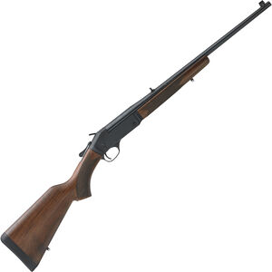 """Henry Repeating Arms Single Shot Break Action Rifle .357 Mag 22"""" Barrel 1 Round Adjustable Rear Sight Brass Bead Front Sight Walnut Stock Blued Finish"""