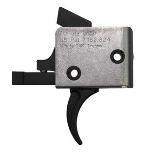 CMC Triggers AR-15 9mm PCC Drop-In Single Stage Trigger Curved Bow 3.5lb Pull Natural Finish