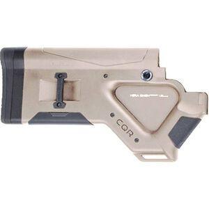 HERA USA CQR Stock AR-15 Replacement Fixed Stock California Compliant Mil-Spec Polymer Tan
