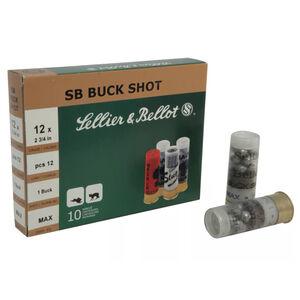 "Sellier & Bellot 12 Gauge Ammunition 25 Rounds 2.75"" #1 Buck 12 Lead Pellets"