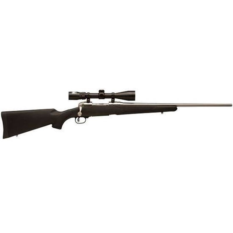 """Savage Model 16 Trophy Hunter XP Bolt Action Rifle Package .25-06 Remington 22"""" Barrel 4 Rounds AccuTrigger Black Synthetic Stock Stainless Finish Nikon 3-9x40 Scope 19730"""
