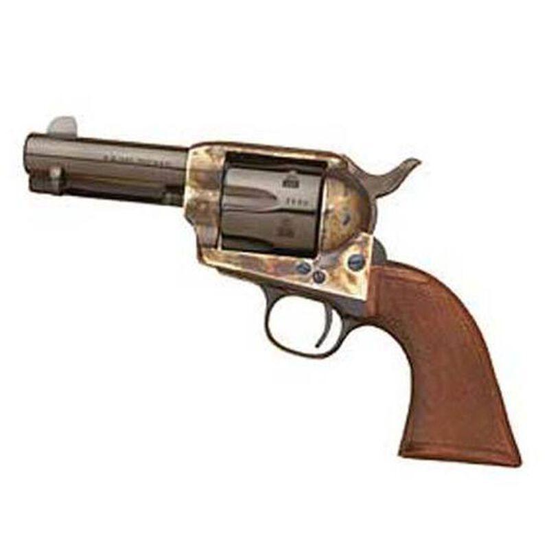 "Cimarron New Sheriff Revolver .45 Long Colt 3.5"" Barrel 6 Rounds Wood Grips Case Hardened Finish CA332"