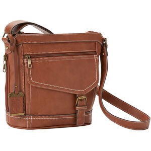 Bulldog Bucket Style Purse With Holster Leather Brown