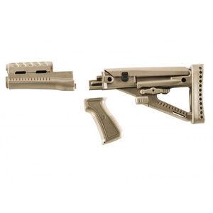 ProMag Archangel OPFOR Series AK-47 Furniture Set Stamped Receiver Adjustable Buttstock Polymer Desert Tan
