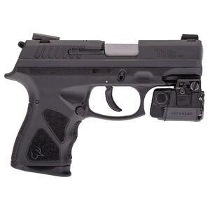 """Taurus TH 9C Semi Auto Pistol with Viridian Laser 9mm Luger 3.54"""" Barrel 13 Rounds Novak Sights Black Frame Matte Black Slide"""