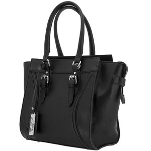 "Cameleon Aphaea Handbag with Concealed Carry Gun Compartment 10.5""x10.5""x7"" Synthetic Leather Black"