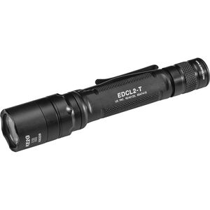 SureFire Everyday Carry Light 2 Flashlight 1200 Lumens 2x CR123A Batteries Dual-Output LED Tail Cap Switch Aluminum Body Black