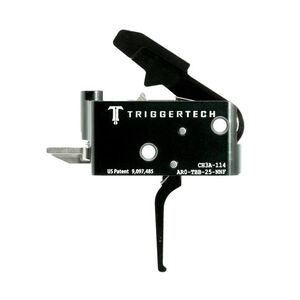 Trigger Tech Adaptable AR-15 Primary Drop In Replacement Trigger Flat Lever Two Stage Adjustable PVD Coated Black Finish