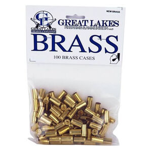 Great Lakes Ammunition Reloading Supplies .327 Federal Magnum New Unprimed Brass Cartridge Cases 100 Pack B687436