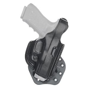 Aker Leather 268 FlatSider Thumbreak XR17 SIG P320 FS Paddle Holster Right Hand Leather Black