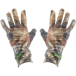 Primos Stretch Fit Gloves with Sure Grip and Extended Cuff in Mossy Oak New Break Up
