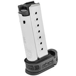 Springfield XD-S Mod 2 Magazine 9mm Luger 8 Rounds Black Extension Stainless Steel