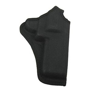 """Bianchi 7001 AccuMold Thumbsnap Holster 4"""" Colt Anaconda and S&W N Frames Belt Holster Right Hand Plain Black 22400"""